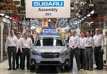 В США произведен 4-миллионный автомобиль Subaru