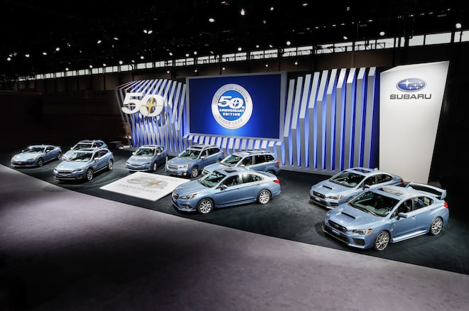 В Чикаго будет представлена юбилейная серия автомобилей Subaru