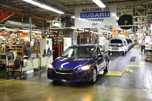 В США открыта линия сборки Subaru Impreza