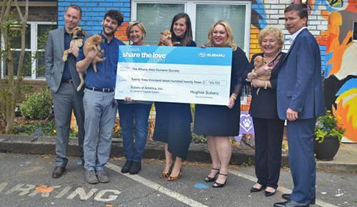 Дилер Subaru пожертвовал приюту для животных 23 723 долларов